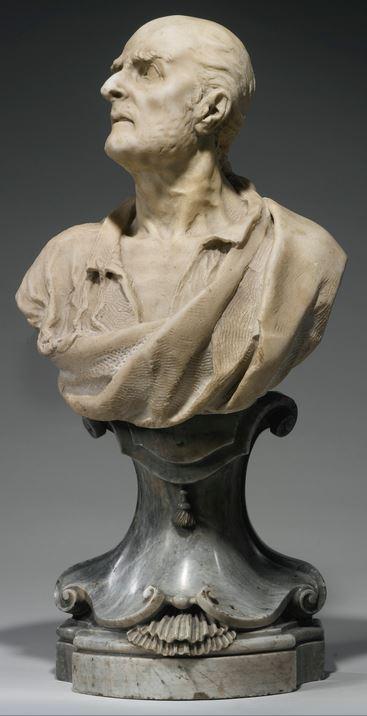 busto in marmo del marchese Vincenzo giustiniani